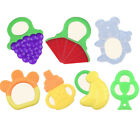 Toddlers Infants Baby Teething Toys Soft Silicone Fruit Shape Teether Holder M