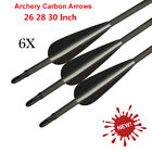 "26""28""30"" Carbon Arrows Spine 400 Archery Arrows for Recurve Bow Screw in Tips"