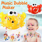 Machine Big Crab Automatic Bubble Maker Gift Blower Music Bath Toys For Baby NEW
