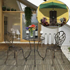 3pc Patio Bistro Table Furniture Set Outdoor Garden Iron Table Chairs Vintage Us