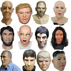 COMLZD Realistic Man Mask Old Male Disguise Human Face Mask Latex Masks