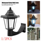 Solar LED Path Way Wall Landscape Mount Garden Fence Lamp Outdoor Light UK H4L3G