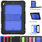 Shockproof Stand Cover Case +Shoulder Strap for iPad 9.7 2018/2017 & Mini 5 2019