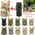 15L Hydration System Backpack+3L Water Bag Bladder Survival Pouch Hike Cycling
