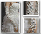 Arrival Flower lace long fingerless bridal gloves with Sparking rhinestones