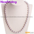"""10mm Fashion Shell Pearl Bead Gemstone Necklace Women Jewelry Gift Color Lot 18"""" image"""