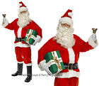 M/L/XL Deluxe Santa Costume Boot Covers Gloves Hat Mens Xmas Fancy Dress Outfit
