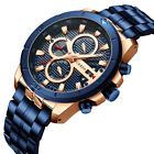 New Luxury Mens Watches Men Chronograph Waterproof Calendar Date Analogue Quartz
