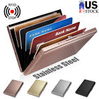 Stainless Steel Case Slim RFID Blocking Wallet ID Credit Card Holder Men Women image
