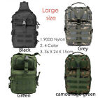Outdoor Military Tactical Sling Backpack Army Molle Waterproof EDC Rucksack Bag