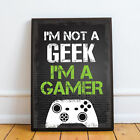 Black Gaming Prints Posters Xbox Playstation Inspired Boys Bedroom Gamer Gifts