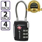 Внешний вид - TSA Approve Luggage Travel Suitcase Bag Lock [3 Digit Combination] Padlock Reset