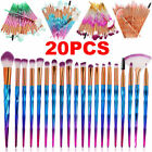 20PCS Unicorn Make up Brushes Set Foundation Eyeshadow Powder Brush makeup Tools