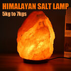 Natural Crystal Salt Lamp Rock Wall Dimmer Air Purifier  Night Light 11-15 Lbs