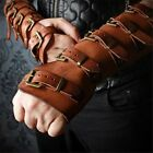 US Men Medieval Cosplay Bracers Patches of Artificial Leather Bracer Punk Style