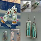 Multi-color Gemstone Woman 925 Silver Ear Hook Drop Dangle Party Gift Earrings