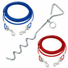 Pet Dog Puppy Outdoor Tie Out Lead Leash Extension Wire Cable Metal Stake Anchor