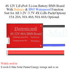 4S 12V 37V Li ion LiPo 32V LiFePo4 LFP Lithium Battery BMS Board IP65 WBalance