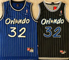 #32 Shaquille Shaq O'neal Orlando Magic Black / Blue Vintage Swingman Jersey on eBay