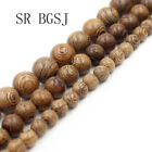 Natural 6 8 10mm Round Tiger sandalwood Mala Meditation Loose Beads 108 Pcs