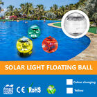 Outdoor Solar Light Floating Ball Seven Color Changing LED Solar Panel Pool US $11.99 USD on eBay