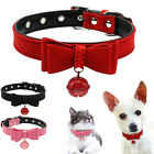 Adjustable Dog Cat Bow Tie Leather Collars Necklace Puppy Kitten Pet Accessories