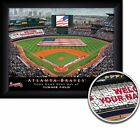 Atlanta Braves Personalized MLB Card Stunt Baseball Stadium with American... on Ebay