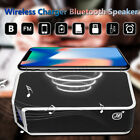 Qi Wireless Charger bluetooth Speaker Music Player Alarm Clock NFC For Phone USA