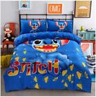 Bedding Set Cartoon Stitch Cotton Blend Duvet Cover Pillow Cases Bed Sheets Full image