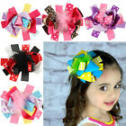 Baby Girls Children Hair Ribbon Bows Alligator Hair Clips Bow Hairpins 15*12cm