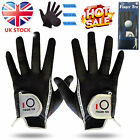 Golf Gloves Right Hand Left Rain Grip Hot Wet 1 Pair Mens Black Grey S M ML L XL