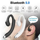 Bluetooth 5.0 Headphone Single Headset In-ear earbud For Safety Driving Meeting