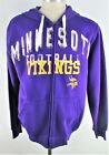 Minnesota Vikings NFL Men's Full Zip Graphic Drawstring Hoodie in Purple $54.99 USD on eBay