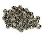 antiqued silver Tibetan style bicone beads 5mm x 4mm