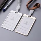 Aluminum ID Badge Card Holder Business Exhibition Pass Office Work Neck Strap