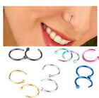 Nose Ring Titanium Plated Hoop 0.8*6mm 0.8*8mm 0.8*10mm Diameter Not Rust 1pcs image