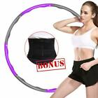 Collapsible Weighted Padded Hula Hoop Fitness Abs Exercise Gym Workout Free Belt image