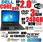 Dell D620 Laptop Duo 2ghz🚩3gb🚩240gb Ssd🚩wifi🚩xp Pro Sp3 Or 7🚩serial Rs232