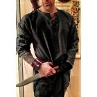 Medieval Men Linen Shirt Medieval Celtic Viking Norman Lord Surcoat Cosplay Tops