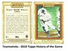 2010 Topps History of the Game Baseball Set ** Pick Your Team ** See Checklist on Ebay