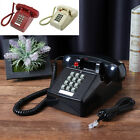 Vintage Retro Push Button Phone Wired Cored Landline Home Desk Decoration