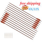 "Archery 30"" Feather Carbon Shaft Arrows Hunting for Compound & Recurve Bow 6/12P"