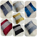 Diamante Crushed Velvet Luxurious Cushion Cover Sparkle Modern Stylish