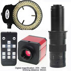 24MP 1080P 60FPS HDMI USB Industrial Lab Microscope Video Camera Lens Ring Light