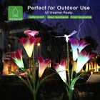 Solar Powered Garden Light Butterfly Flower  Waterproof 7 Color Change Lighting