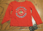 Toddler Chicago Blackhawks Long Sleeve T-Shirt, Red With Heart, Sizes, NEW $5.99 USD on eBay