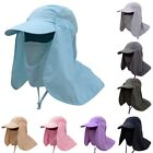 Summer Outdoor Sun Protection Fishing Caps Neck Face Flap Hat Wide Brim Cover
