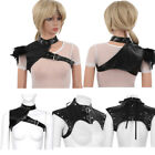 Women PU Leather Body Chest Harness Corset Bustier Top Gothic Shoulder Straps