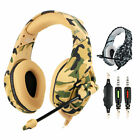Gaming Headset 3.5mm Wired Headphone Camouflage For PS4 Xbox One Nintendo PC