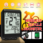 Wired/Wireless Backlight Cycling Bike Computer LCD Bicycle Speedometer Odomet US